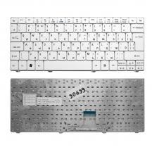 TopON TOP-90699 Клавиатура для ноутбука Acer Aspire 1410, 1425, 1810, 1830 Aspire One 721, 722, 751 Series. Г-образный Enter. Белая без рамки.  NSK-AQ10R.