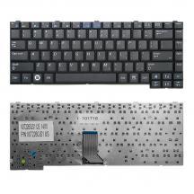 US Клавиатура для ноутбука Samsung R403, R408, R410 Series. Плоский Enter. Черная, без рамки. US.  BA59-02247C, BA59-02247D.